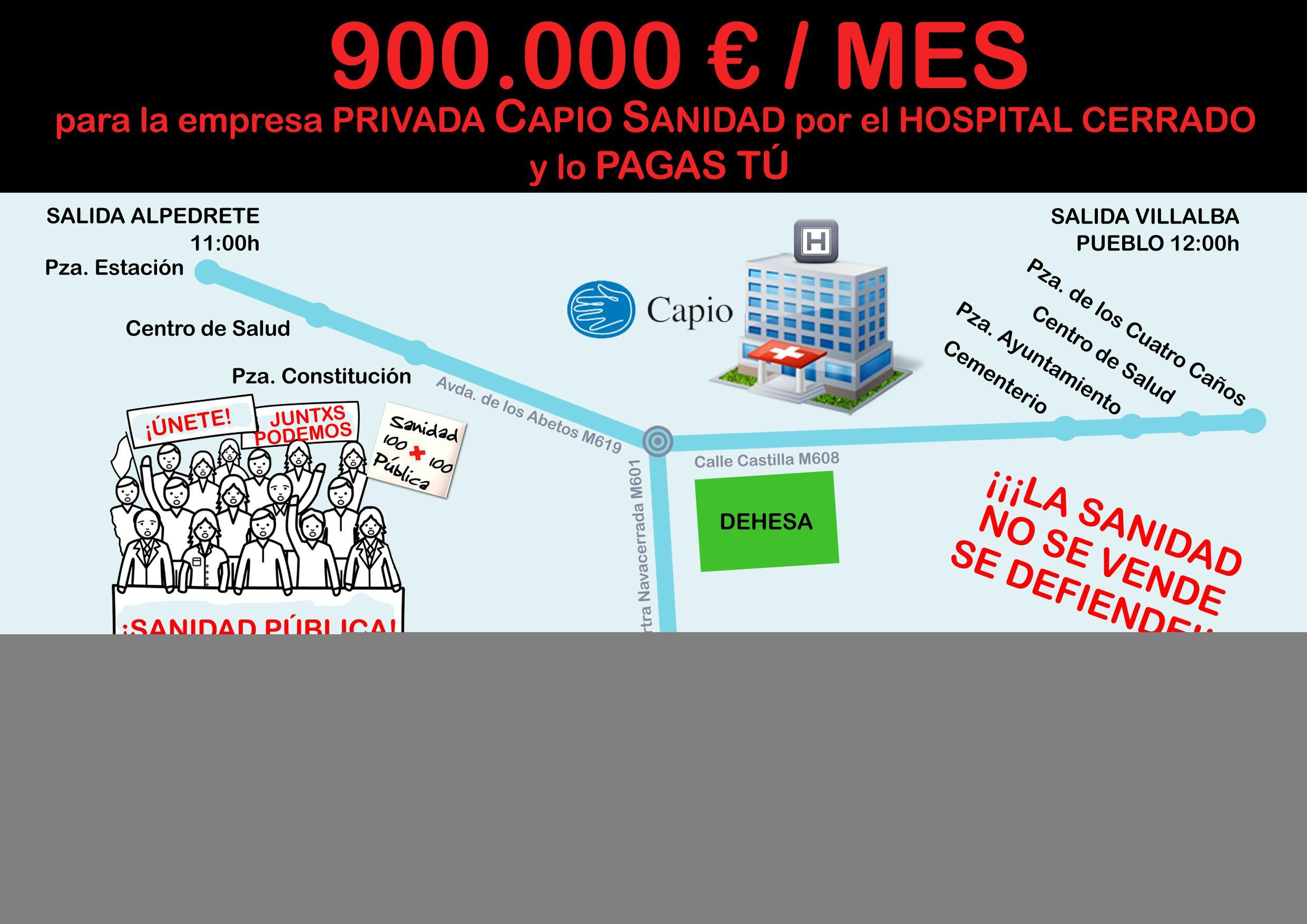Por la Sanidad Pública todos a Villalba